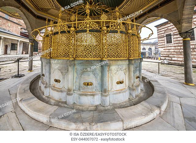 ISTANBUL, TURKEY- MARCH 11,2017: Exterior view of Hagia Sophia,a Greek Orthodox Christian patriarchal basilica (church),built in 537 AD