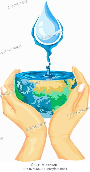 Vector of save water concept