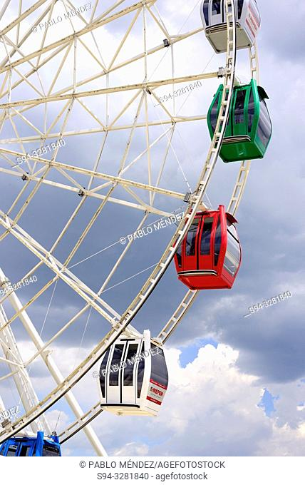 Big wheel of Kok-Tobe, Almaty, Kazakhstan