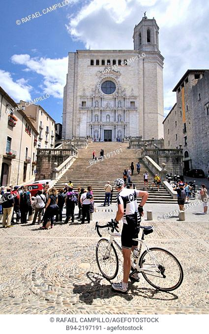 Cathedral of Saint Mary of Girona. Its interior includes the widest Gothic nave in the world, and the second widest overall after that of St