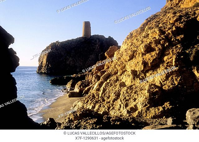 `Peñon'tower Mojacar, Almeria province, Andalucia, Spain