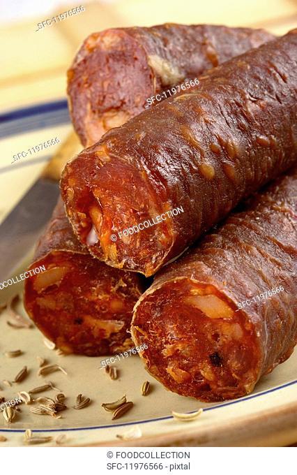 Luganega (spicy sausage from Veneto, Italy)