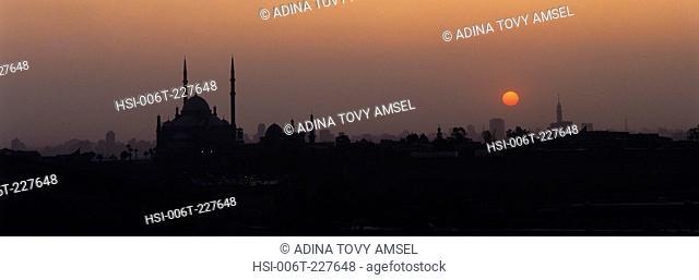 Egypt. Cairo. City skyline at sunset