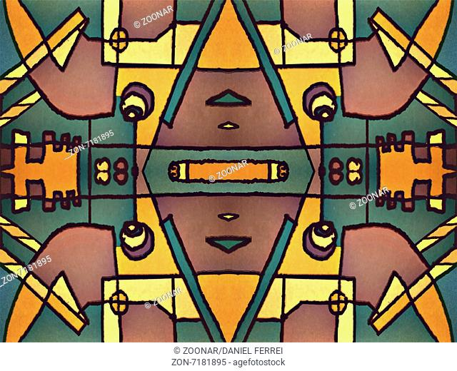 Multicolor Tribal Geometric Pattern