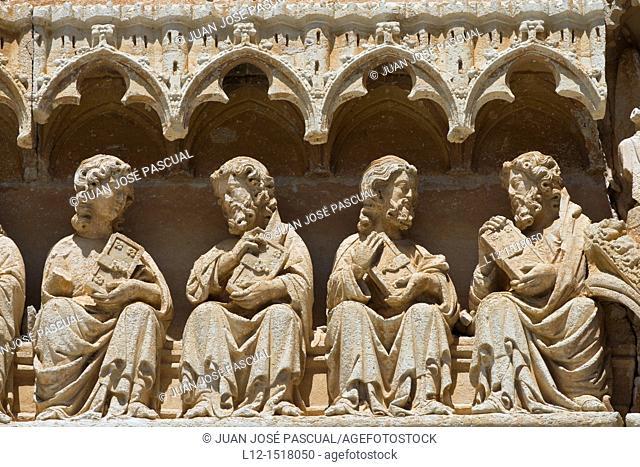 Santa Maria Church, Sasamon, Burgos province, Castille-Leon, Spain