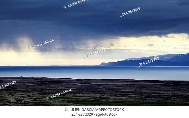 Iceland, Westfjords, landscape of Vestfirdir region