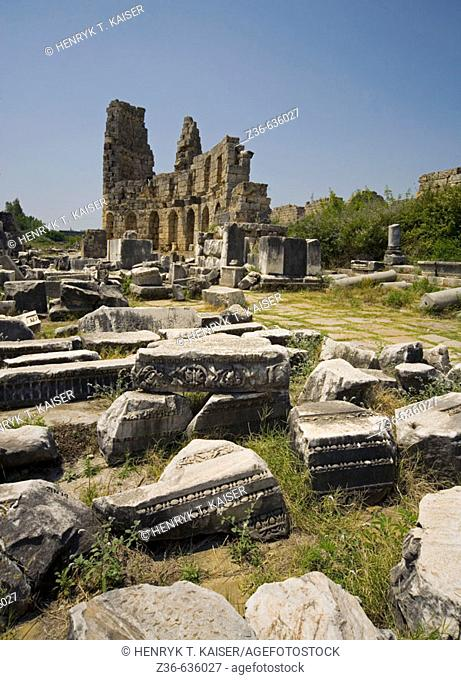 Ancient Perge ruins, Turkey