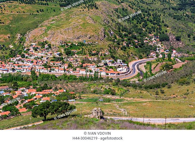 Cityscape from the hill, Pergamon, Bergama, Izmir Province, Turkey