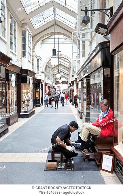 Shoe Shiner, Burlington Arcade, London, England