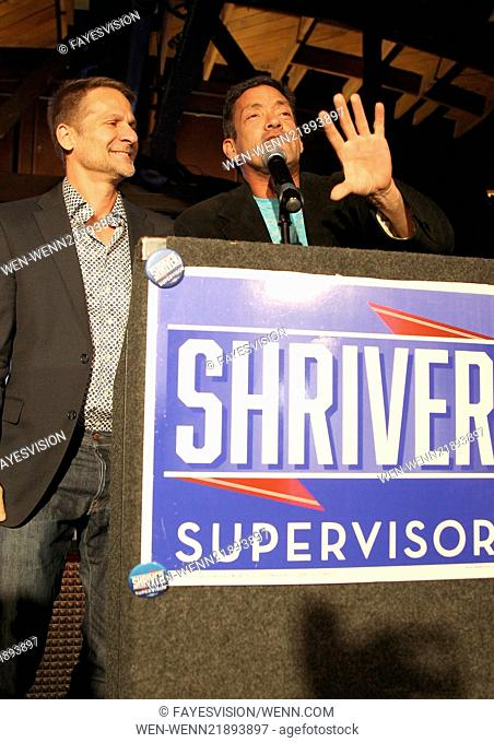 Bobby Shriver for Los Angeles County Supervisor election night party Featuring: John D'Amico,John Duran Where: West Hollywood, California