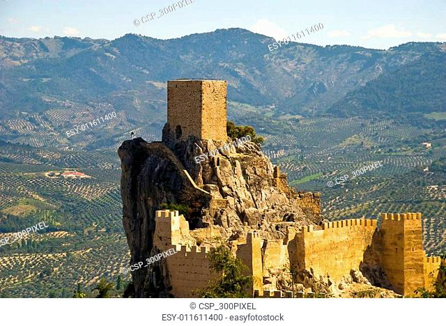The castle of Cazorla in Andalusia, Spain
