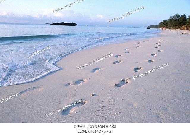 Footprints on the Beach  Malindi District, Kenya