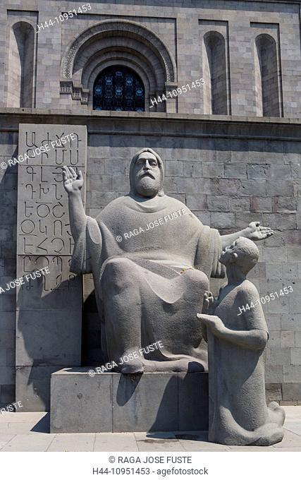 world heritage, Ancient, Armenia, South Caucasus, Caucasus, Eurasia, Manuscripts, Mashtots, Matenadaran, Yerevan, alphabet, architecture, museum, sculpture