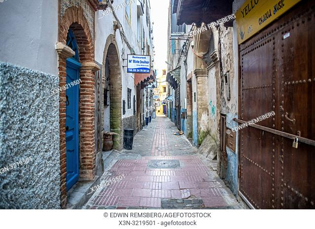 Brick Road Alleyway, Essaouira, Marrakesh-Safi, Morocco