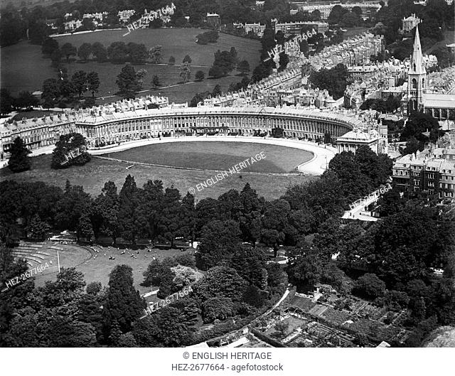 Royal Crescent, Bath, Somerset, 1920. Artist: Aerofilms