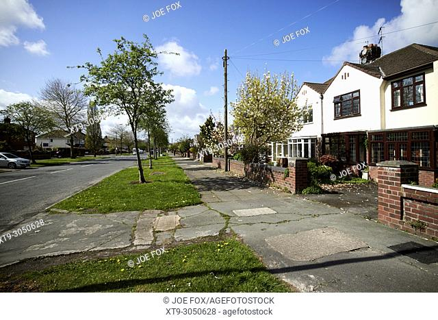 affluent housing on booker avenue in the allerton areas of liverpool merseyside england uk