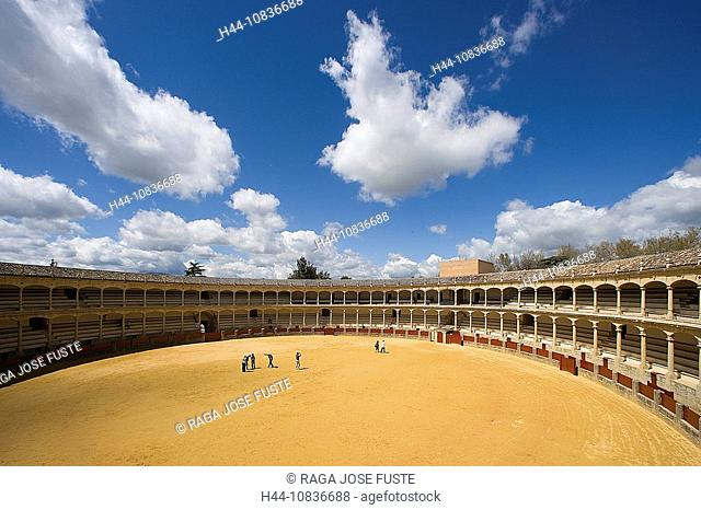 Spain, Europe, Ronda City, Andalucia Region, Malaga Province, Bullfighting Ring, arena, bullfight, corrida, Plaza de T