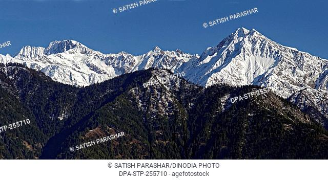 snow capped mountain, himachal pradesh, india, Asia