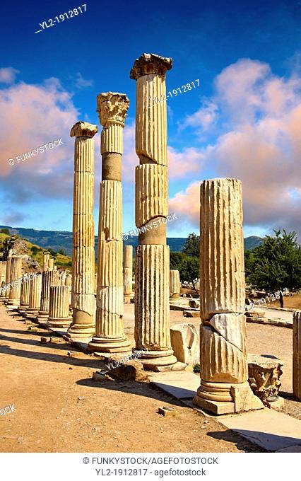 Pillars of The Basilica, 1st Century A D  Ephesus Archaeological Site, Anatolia, Turkey