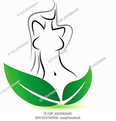 Sexy woman body logo