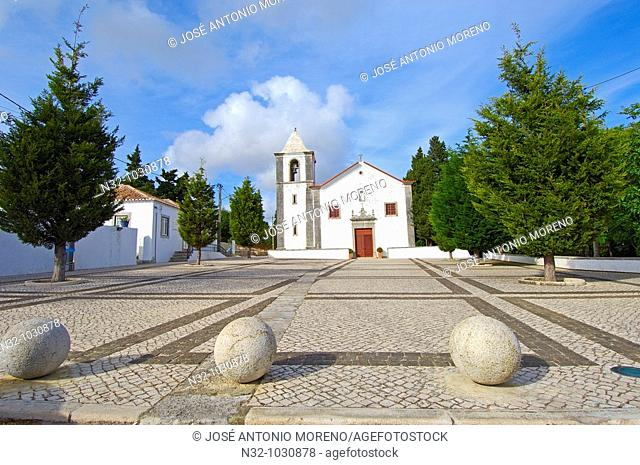 Nossa Senhora do Castelo church. Sesimbra. Setubal district. Serra da Arrábida. Portugal