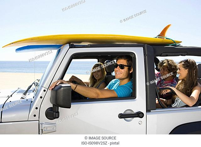 Friends in SUV