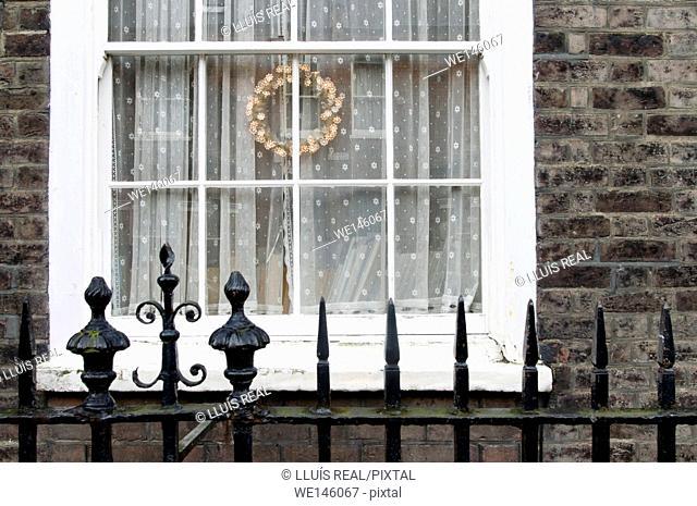 Window, Gate, Christmas, London Chelsea, England