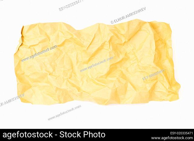 Piece of paper isolated on the white