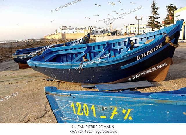 The old fishing port, Essaouira, Morocco, North Africa, Africa