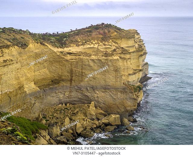 Castle Rock promontory at the Twelve Apostles coastline, Great Ocean Road, Victoria, Australia
