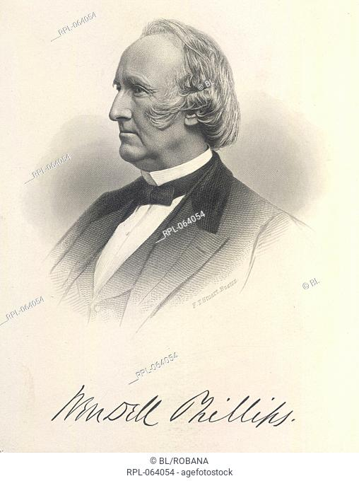 Wendell Phillips 1811-1884. American abolitioniSt Portrait. Image taken from The Eulogy on Wendell Phillips