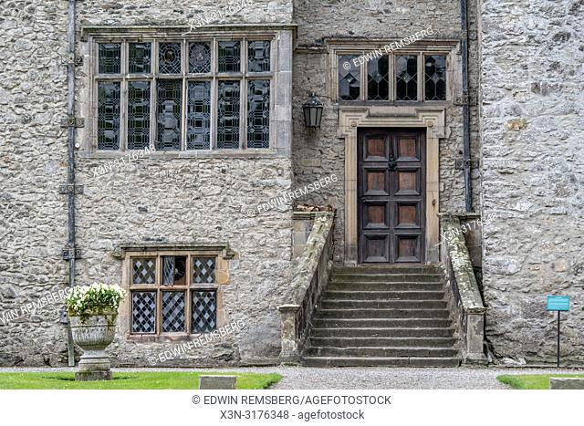Outside entrance to Levens Hall , Kendal, Cumbria , UK