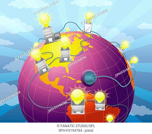 Conceptual illustration of usage of natural energy