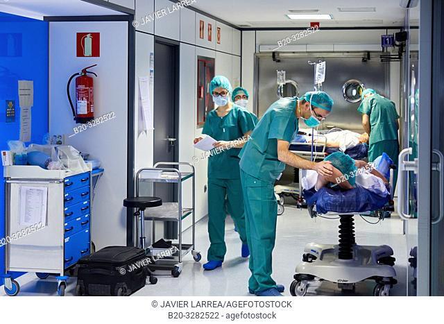 Operating theater of ophthalmology, Hospital Donostia, San Sebastian, Gipuzkoa, Basque Country, Spain