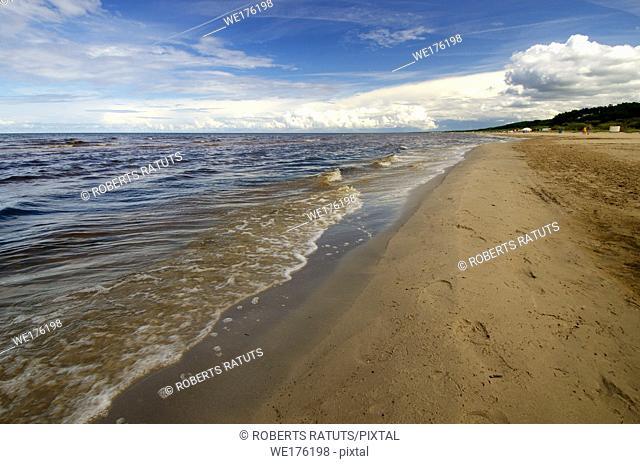 Beach and Baltic sea.Latvia