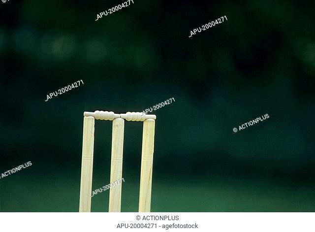 Close up of a cricket wicket
