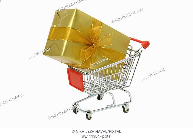 Gift present shopping cart