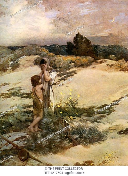 'Hagar and Ishmael', 1880, (1912). A colour print from Famous Paintings, with an introduction by Gilbert Chesterton, Cassell and Company, (London, New York