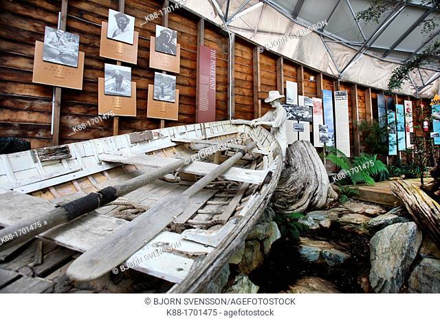 'West Coast Reflections', a permanent exhibition about the history of Tasmania's west coast Strahan, Tasmania, Australia