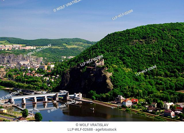 View of Strekov in Usti nad Labem, Usti nad Labem Region, Czech Republic