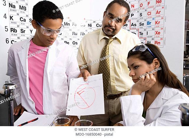 Teacher Giving Students a Failing Grade