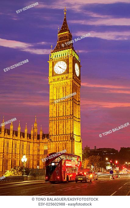 Big Ben Clock Tower in London at England