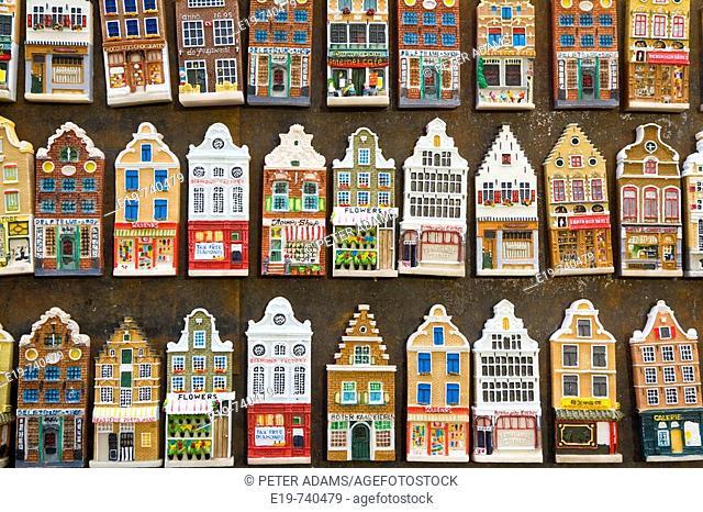 Fridge Magnets of Amsterdam town houses