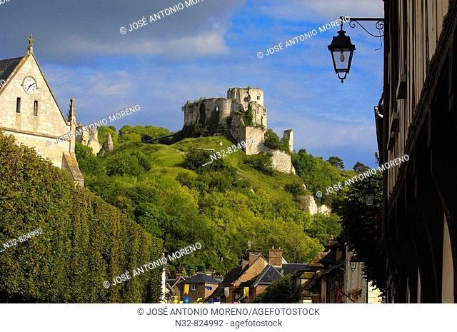 Galliard Castle Château-Gaillard, Les Andelys Seine valley, Normandy, France
