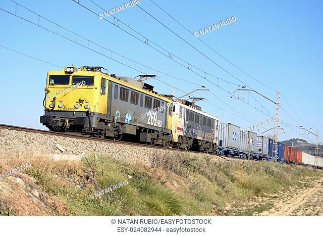 Electric locomotive. Catalonia, Spain