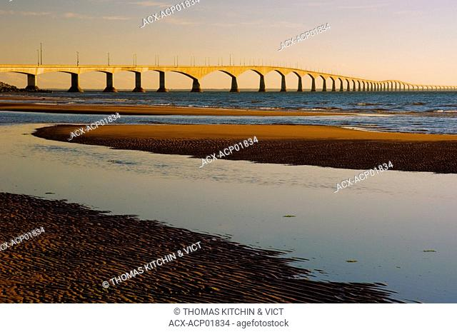 Confederation Bridge, from Prince Edward Island to New Brunswick across the Northumberland Strait, Canada