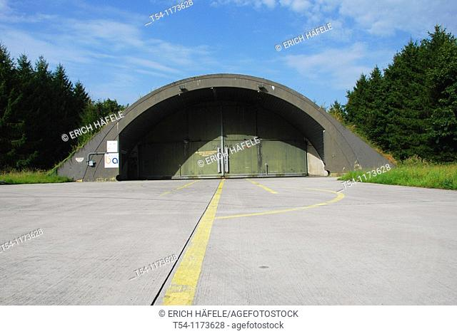 Shelter on a fighter jet Airbase