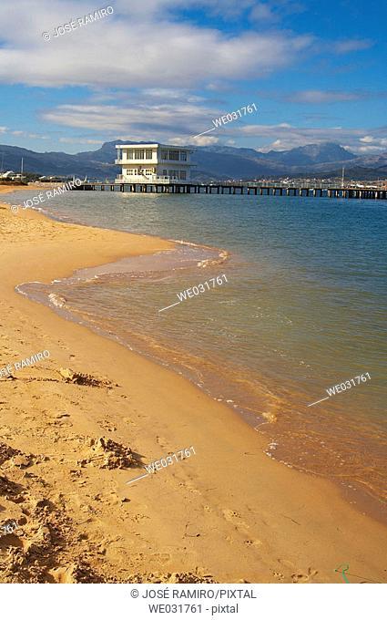 Marina in Regatón beach. Cantabria. Spain