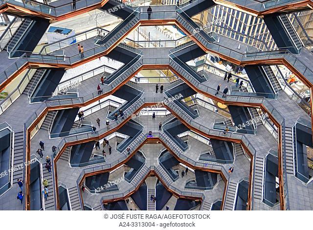 USA, New York City, Manhattan, Midtown, Hudson Yards, The Vessel