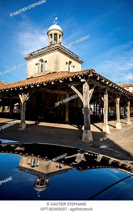 THE MEDIEVAL COVERED MARKET OF REVEL, (31) HAUTE-GARONNE, MIDI-PYRENEES LANGUEDOC ROUSSILLON